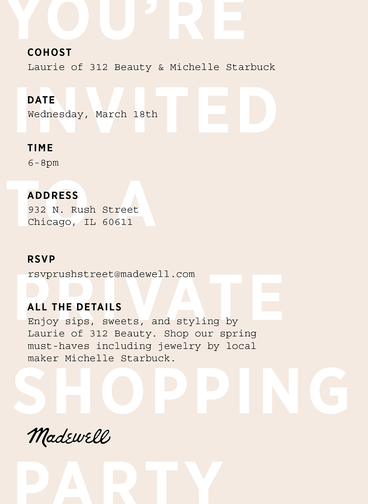 312 Beauty Madewell Chicago